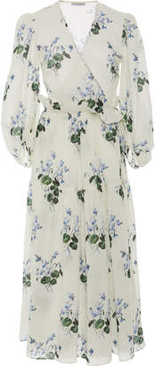 Les Rêveries Floral-Print Cotton-Voile Wrap Dress