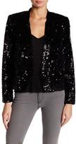 Zadig & Voltaire Vegas Sequin Silk Blend Jacket