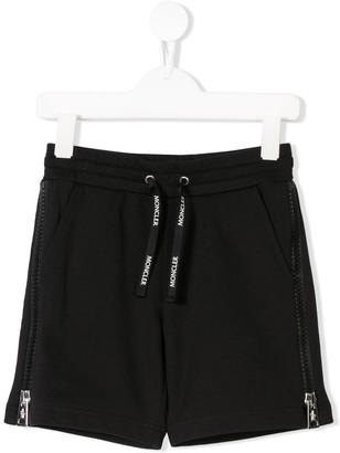 Moncler Enfant Side Zip Track Shorts