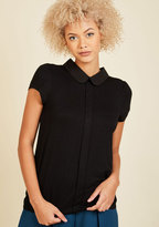 Perfected Polish Knit Top in Noir in XS