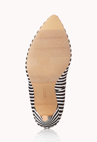Forever 21 Standout Striped Pumps