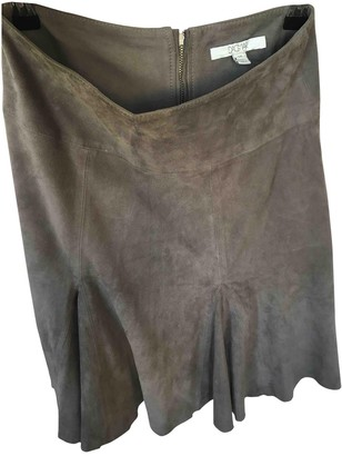 Dagmar Grey Suede Skirt for Women