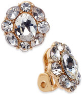 Charter Club Gold-Tone Crystal Flower Clip-On Stud Earrings, Only at Macy's