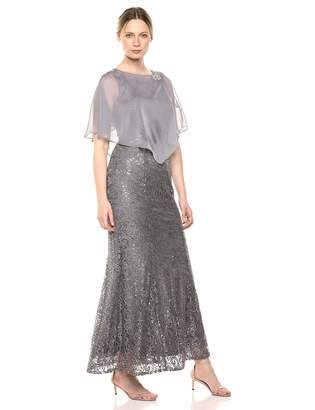 Ignite Women's Sequin Lace Beaded Gown