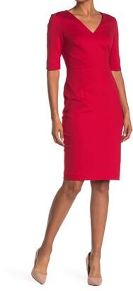 Trina Turk Locale V-Neck Sheath Dress