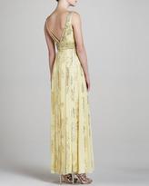 Sue Wong Sleeveless Jacquard Gown