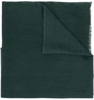 Altea chevron knit frayed edge scarf