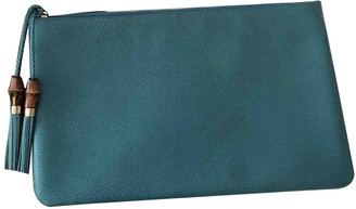 Gucci Turquoise Leather Clutch bags