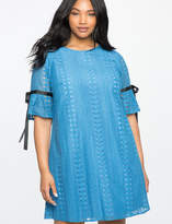 ELOQUII Allover Lace Easy Tee Dress