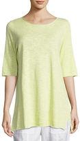 Eileen Fisher Half-Sleeve Linen-Blend Tunic