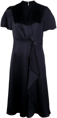 Elie Tahari Ruffle Flared Midi Dress