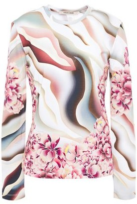 Roberto Cavalli Printed Cotton-jersey Top