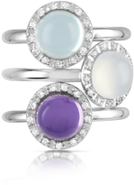 Tagliamonte Mia & Beverly Gemstone and Diamond 18K White Gold Ring
