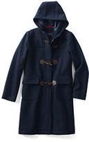 Classic Girls Wool Duffle Coat-Bright Cherry