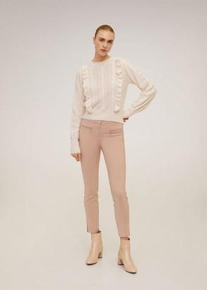 MANGO Zip-pocket slim-fit pants pale pink - 2 - Women