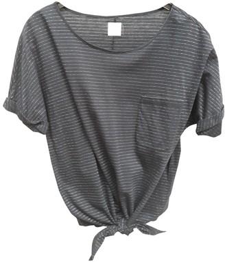 Des Petits Hauts Black Cotton Top for Women