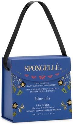 Butter Shoes Spongelle Limited Edition Blue Iris Triple Body Wash Infused Buffer