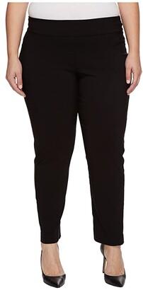 Krazy Larry Plus Size Pull-On Ankle Pants (Black) Women's Dress Pants