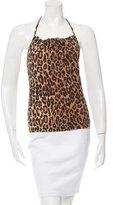 Dolce & Gabbana Leopard Print Swim Top