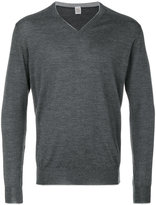 Eleventy V neck sweatshirt - men - Silk/Merino - S