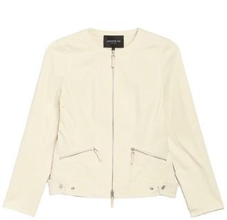 Lafayette 148 New York Cairo Zip Front Jacket