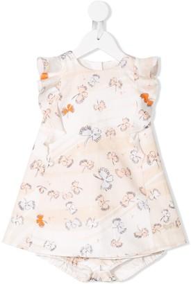 Hucklebones London flutter print dress set