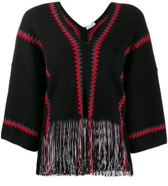 Sonia Rykiel two tone knitted jumper