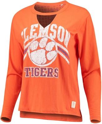 Women's Pressbox Orange Clemson Tigers Scout Choker Long Sleeve T-Shirt