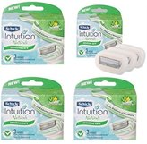 Schick NEW Intuition Natural Sensitive Care Moisturizing Razor Blade Refills for Women with Natural Aloe 12 Count
