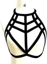 Come On Comeon Harness Bra, Women Alluring Harness Bra Elastic Cage Bra Strappy Hollow Out Bra