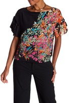 Plenty by Tracy Reese Floral Silk Tie-Sleeve Top