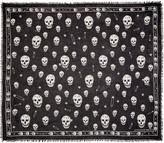 Alexander McQueen Black F O Punk Skull Scarf