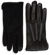 Lauren Ralph Lauren Wool-Blend and Leather Touch Gloves