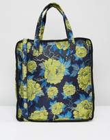 Asos Boxy Shopper Bag with Floral Jaquard