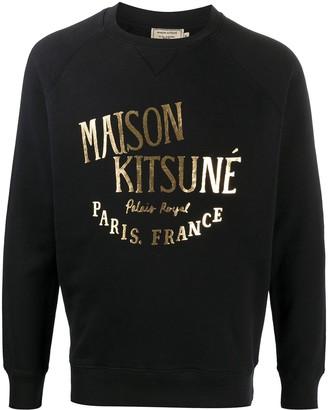 MAISON KITSUNÉ Metallic Print Sweatshirt