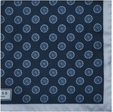Reiss Reiss Ambiem - Silk Patterned Pocket Square In Blue