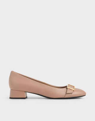 Charles & Keith Frame Buckle Strap Pumps