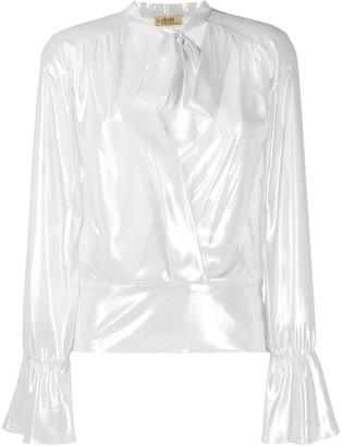 Liu Jo Metallic Pussy-Bow Shirt
