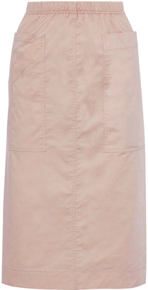 Sea Sienna Stretch-cotton Broadcloth Midi Skirt