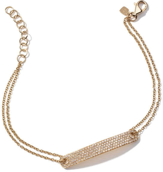 Anne Sisteron Diamond Id Yellow-Gold Bracelet