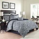 Waverly Traditions by 6-Piece Paddock Shawl Comforter Set, Queen, Porcelain