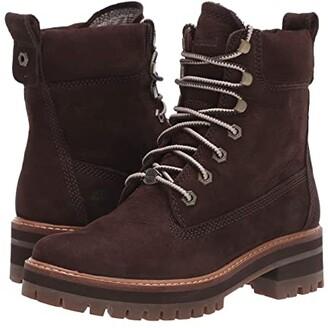 Timberland Courmayeur Valley 6 Boot (Dark Brown Nubuck) Women's Lace-up Boots