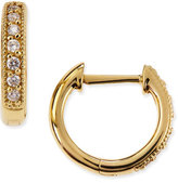 Jude Frances Small 18K Gold Hoop Earrings with Diamonds, 11mm