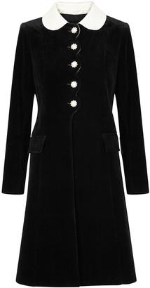 Marc Jacobs The Sunday Best black velveteen coat
