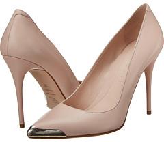 Alexander McQueen Pointy Pump 100MM Metal Toe Women's Shoes
