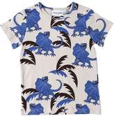 Mini Rodini Monster Print Cotton Jersey T-Shirt