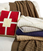 Lauren Ralph Lauren Cable Knit Throw, 100% Cotton Bedding