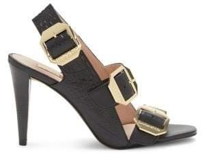 Louise et Cie Khalon Textured Leather Heeled Sandals