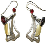 Christophe Poly Red Rectangles Earrings