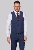 Moss Esq. Regular Fit Blue Speckle Waistcoat